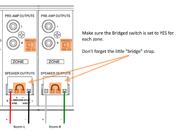 "Wiring a room in ""Bridged"" mode"
